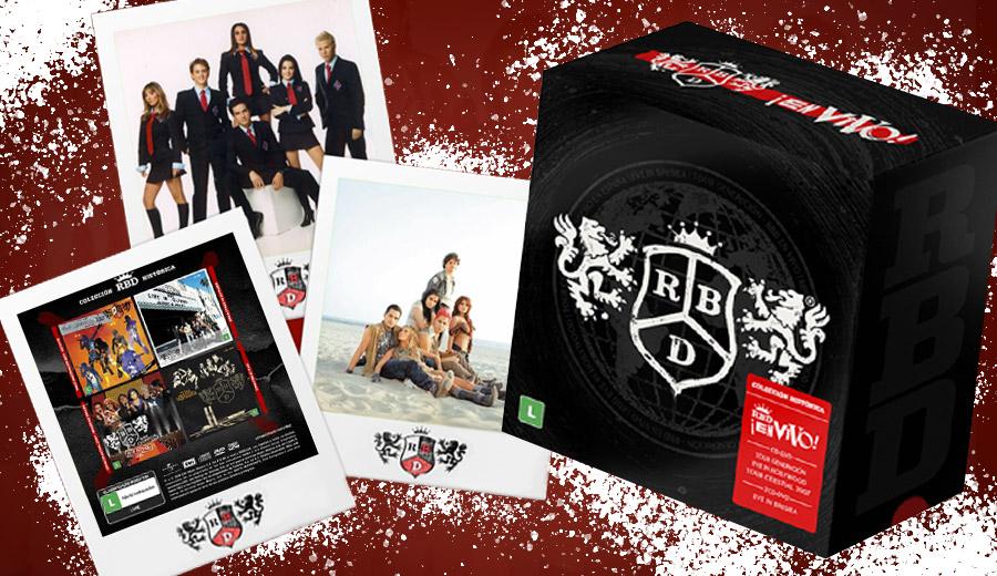 """A MIX vai te dar um Box RBD En Vivo, com 5 CDS e 4 DVDs, incluindo o """"Live em Brasília"""". Saiba como participar..."""
